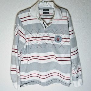 Ecko Unlimited striped rugby style shirt. Sz L